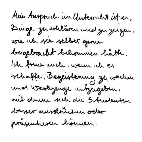 Christoph Rathjen Motto Handgeschrieben