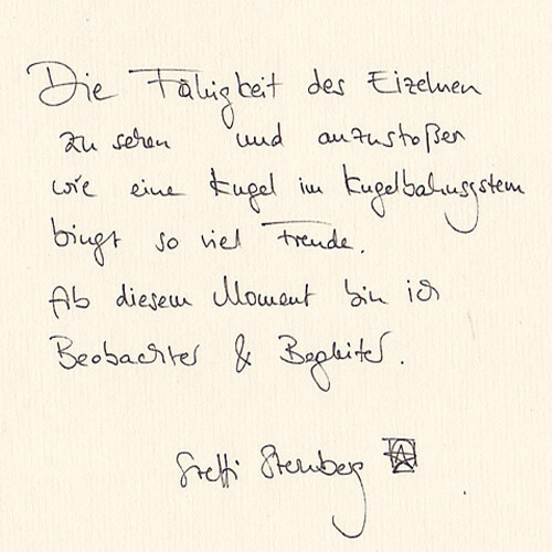 Steffi Sternberg Motto Handgeschrieben