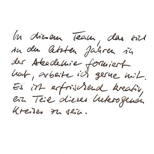 Christina Thönes Motto Handgeschrieben